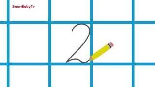 Учимся писать цифру 2. Развивающие Мультфильмы для детей(Развивающие Мультфильмы для детей. В этом видео 20 раз показывается правописание цифры 2. Обучающий ролик..., 2014-12-11T19:09:09.000Z)