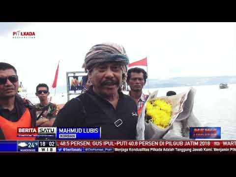 Keluarga Korban KM Sinar Bangun Gelar Ritual di Danau Toba