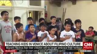 Teaching kids in Venice about Filipino culture