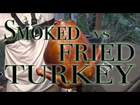 Turkey, Gravy and Brine Recipe! Smoked on PBC vs Fried! how to and what's better!!!!