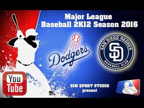 Los Angeles Dodgers-San Diego Padres. MLB2K12