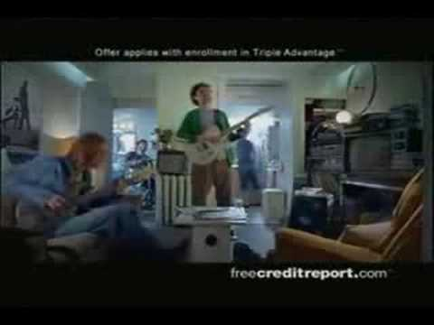 Free Credit Report Commercials - All Four with Lyrics!