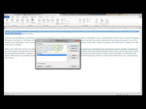 Using MS Word Spelling & Grammar Check