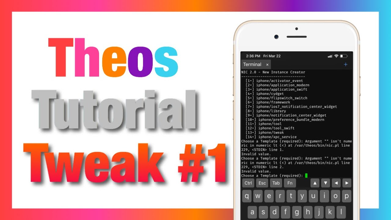 How To Make A Cydia Tweak iOS 12 #1 (Theos Tutorial)
