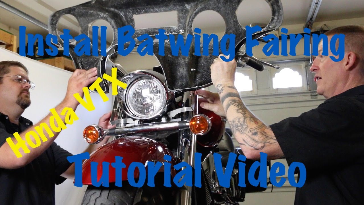 install aftermarket batwing fairing on a honda vtx motorcycle biker motorcycle podcast youtube [ 1280 x 720 Pixel ]