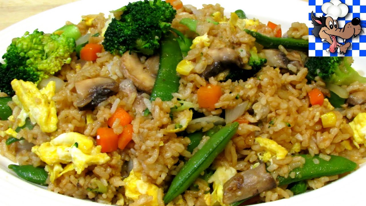 How To Make Fried Rice Vegetable Fried Rice Chinese Recipe Youtube