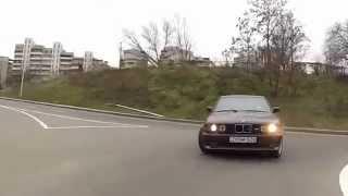 Очень опасная езда по улицам на BMW M5