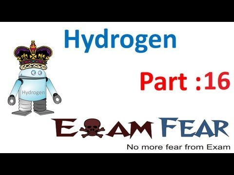 Chemistry Hydrogen part 16 (Hardness removal from water) CBSE class 11 XI