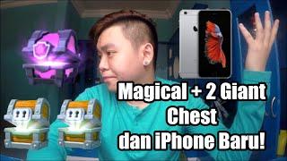 Buka Magical Chest dan 2 Giant Chest + Hp Baru!!!