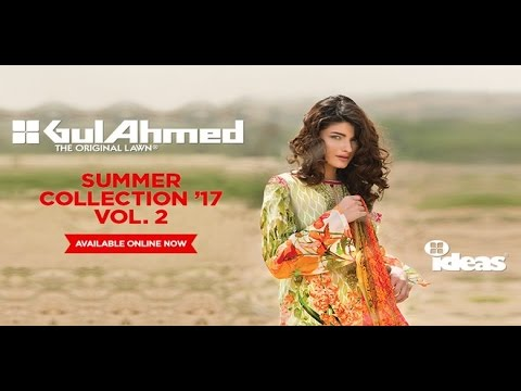 2a5068dfee Gul Ahmed Volume 2 Summer Lawn Collection 2017 Full Catalogue - YT