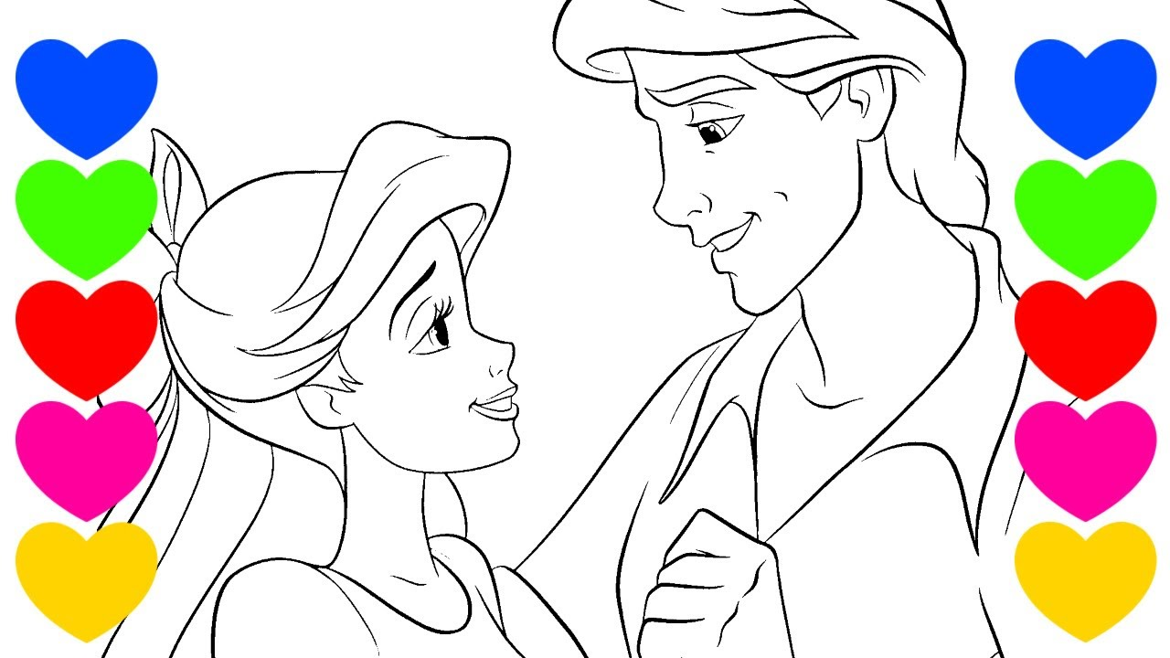 Pintar Desenho Da Pequena Sereia Ariel Colorir Princesa Disney Ariel