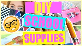 DIY Inexpensive Back To School Supplies: Notebooks, Binders, + More | Back To School DIY 2016-2017!