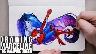 Drawing Marceline The Vampire Queen   Adventure Time