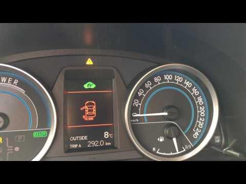 Toyota Auris HSD Parking Distance Control beep vs  music - YouTube