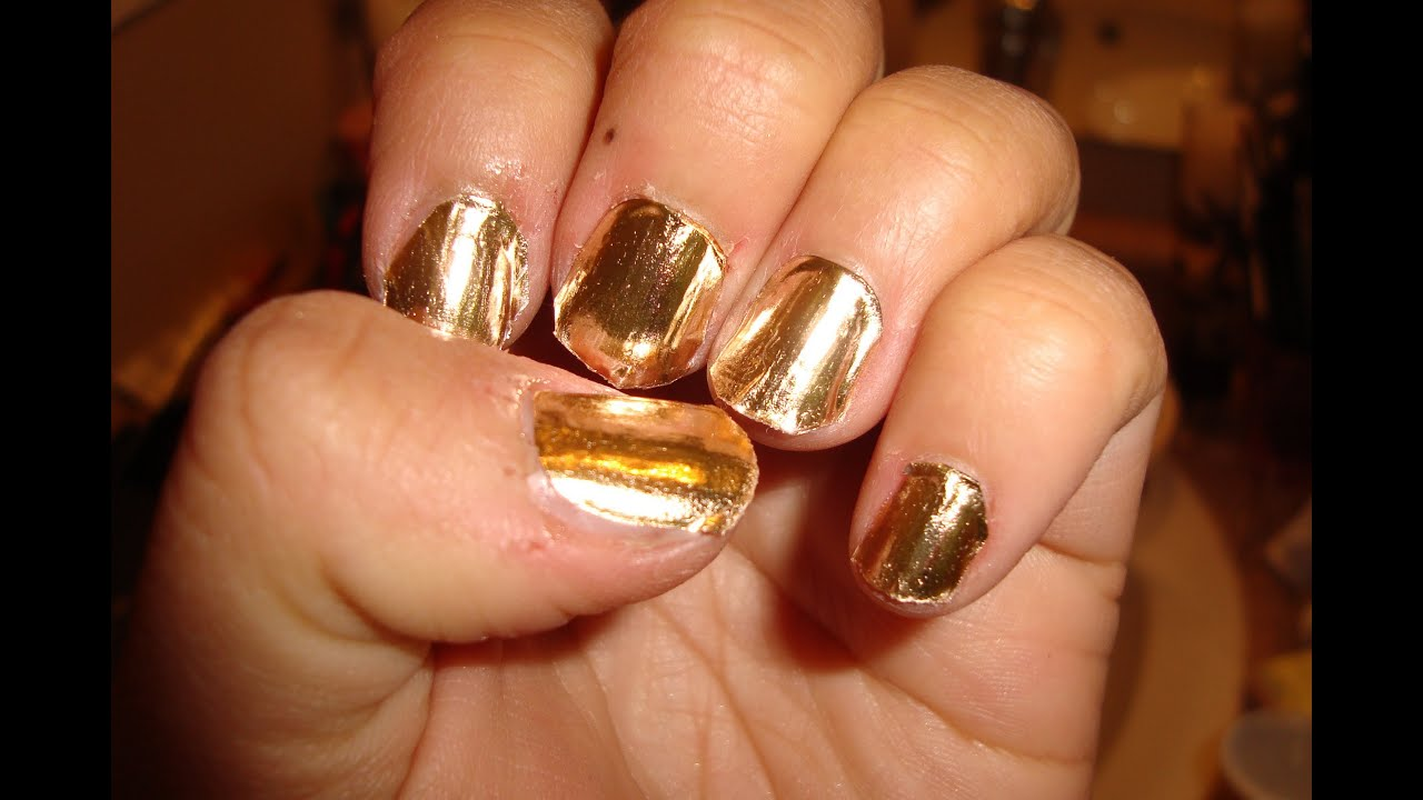 Gold Metallic Nails- bornprettystore.com Review - YouTube