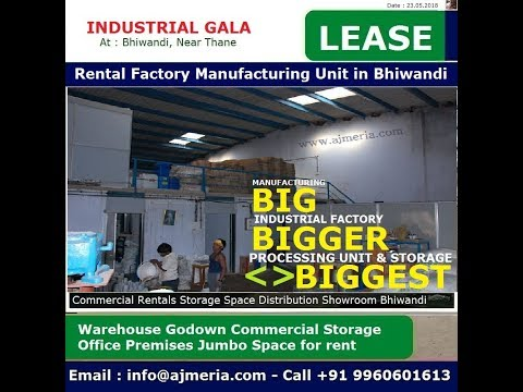 Industrial RCC Gala for Factory and Manufacturing Unit for rent on ground floor at Pimplas Mumbai Na