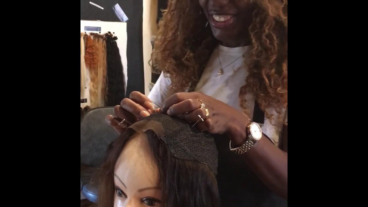 Toupet donna di capelli veri con base creata con ...