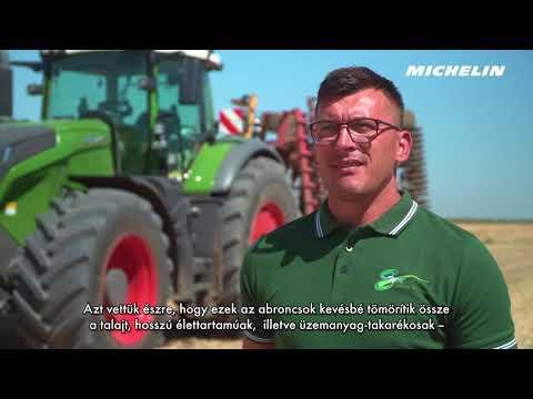 MICHELIN Axiobib - kisebb mértékű talajtömörítés, 10-12%-kal alacsonyabb üzemanyag-fogyasztás