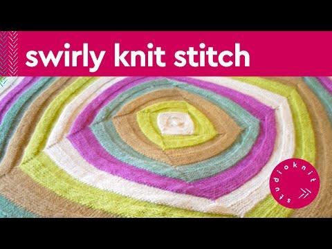 Swirly Square Knit Stitch Pattern Youtube