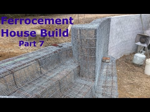 Ferrocement House Project - Part 7 - Framing The Armature