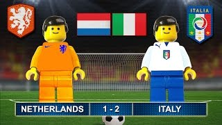 OLANDA ITALIA 1-2 • 28/03/2017 • NETHERLANDS vs ITALY 1-2  ( Film Lego Football Highlights )