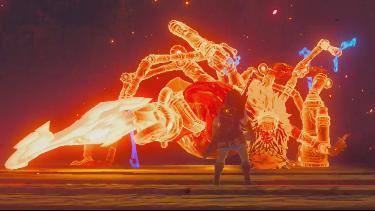 The Legend Of Zelda Breath Of The Wild Calamity Ganon Fight Full Ending No Commentary