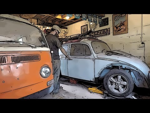 Vw restoration. 'Day 55 - Prior the front beam removal'.