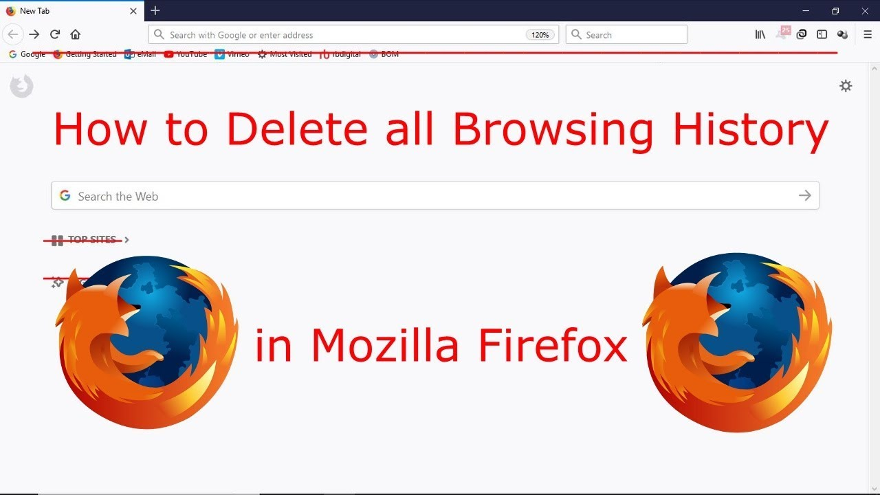 how to delete history in mozilla