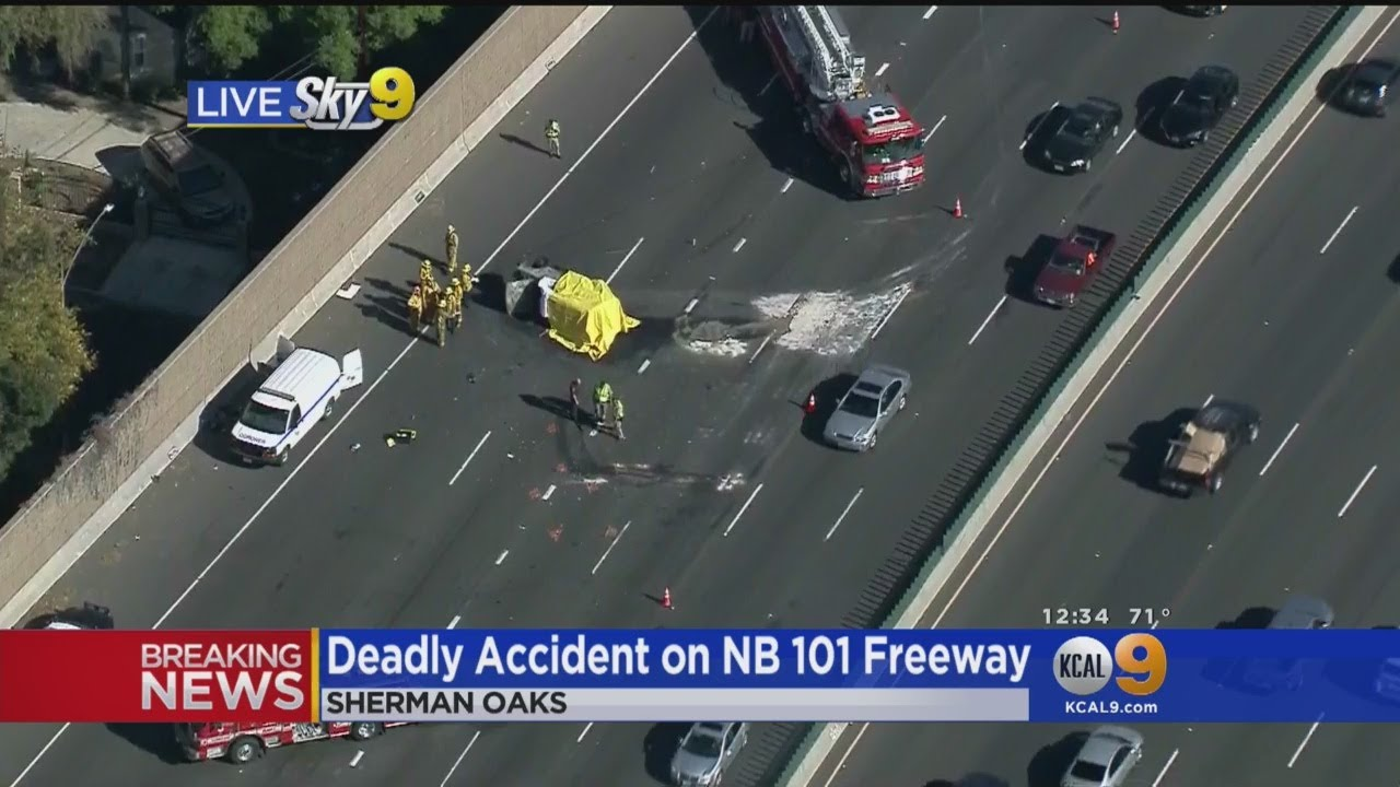 Deadly Wreck Snarls Traffic on 101 Freeway In Sherman Oaks