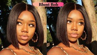 $139 Wig! MUST HAVE Blunt Cut Bob! | Wowafrican