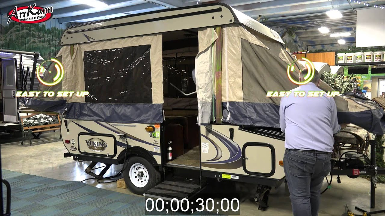 Tent Trailer camping in 0-60 Seconds!