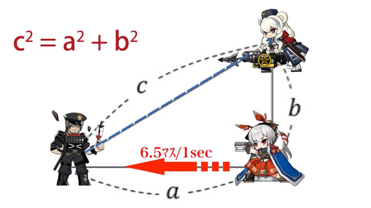 【アークナイツ】ロサスキル3 最大距離(更新ver)