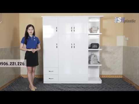 Tủ nhựa Đài Loan kèm kệ trang trí SHPlastic TL14