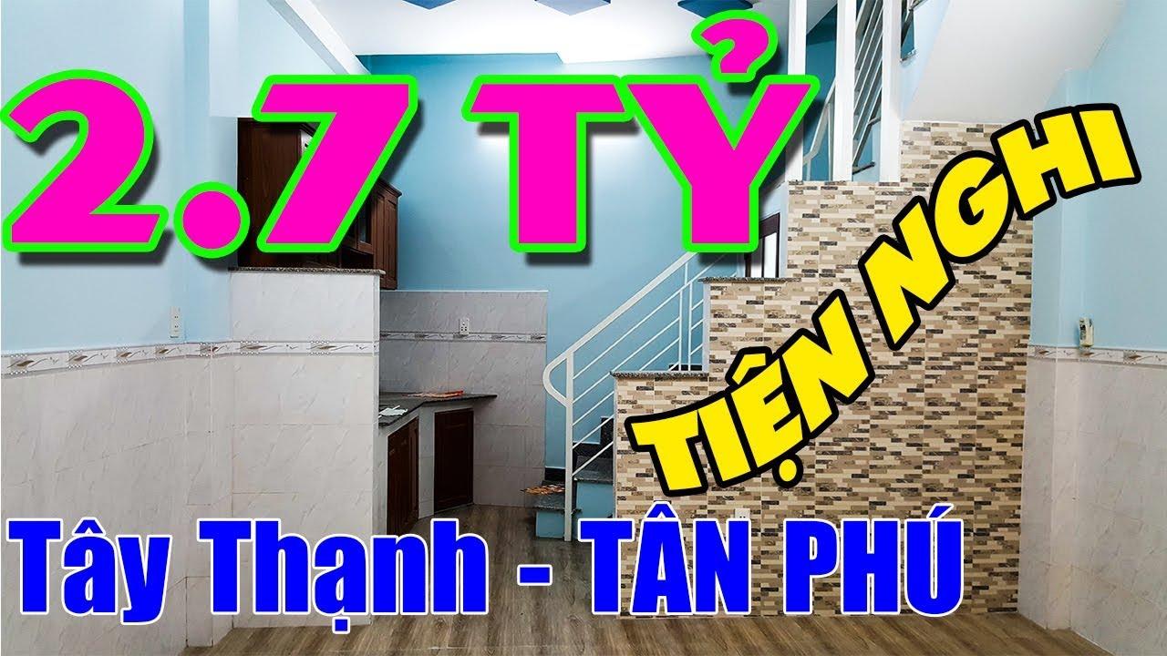 Bán Nhà Quận Tân Phú (NHỎ TIỆN NGHI) Hẻm Tây Thạnh [2,7 tỷ] 1 trệt 1 lầu, Hướng Tây Bắc, 2P, 2 Tolet