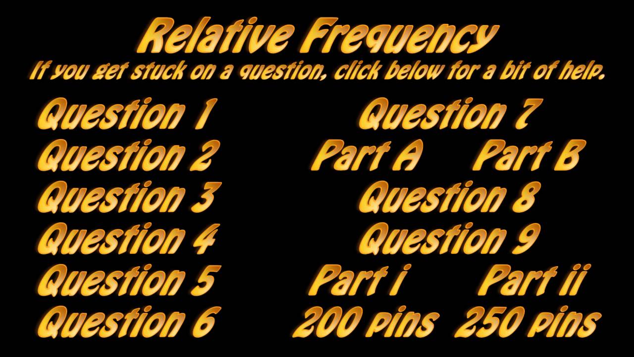 Relative Frequency Worksheet Hints YouTube – Relative Frequency Worksheet