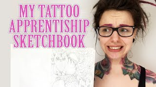 Looking Through My Old Tattoo Apprenticeship Sketchbook, yikes!
