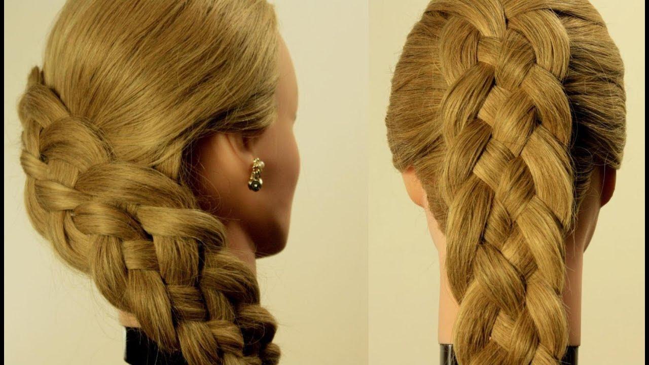 схема плетения колоска из волос