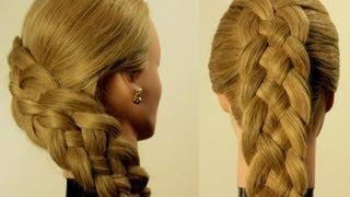 Плетение косы из 5 прядей. 5 Strand Braid (hairstyle for long hair)