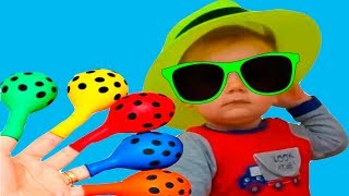LEARN COLORS Baby Balloon Song for Learning Colors Finger Family Nursery Rhymes Video for Children