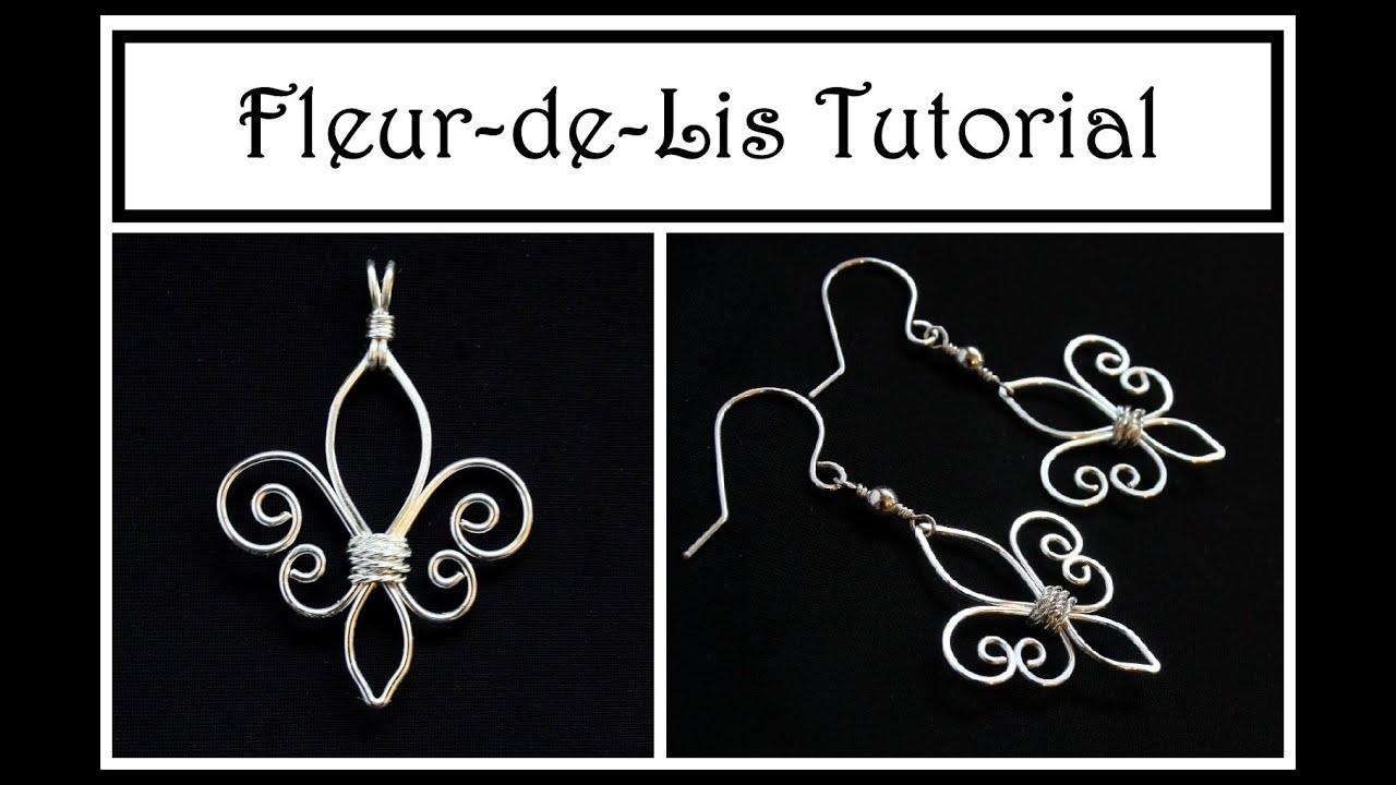 Jewelry de  Jewelry Tutorial : How to Make Fleur de Lis Pendant or Earrings ...