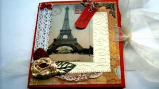 Музыкальная открытка во французском стиле С днём рождения!