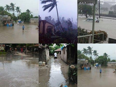 Haïti-Matthew : Les premiers impacts de l'ouragan aux Cayes et dans le Sud et la (Grande Anse)
