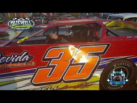#35 Matt Tharp - Sportsman 1st Feature - 5-28-17 Tazewell Speedway - In-Car Camera