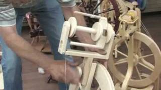 Lendrum Jumbo Flyer Setup and general spinning wheel info