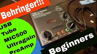 Behringer Tube Ultragain MIC500USB: Audiophile Vacuum Tube Preamplifier (Review)