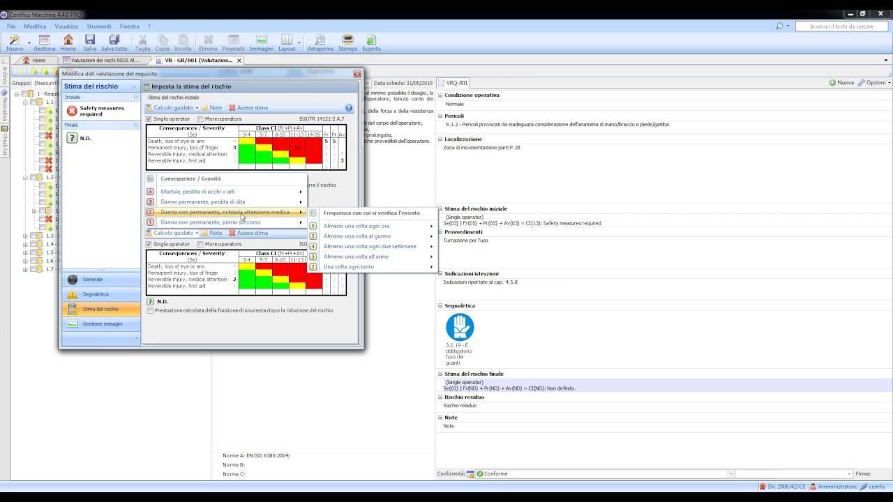 CEM4: Tutorial Valutazione dei Rischi Direttiva macchine - EN ISO 12100 e ISO/TR 14121-2