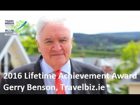 Lifetime Achievement Award - Gerry Benson - Travelbiz.ie - Travel Media Awards 2016