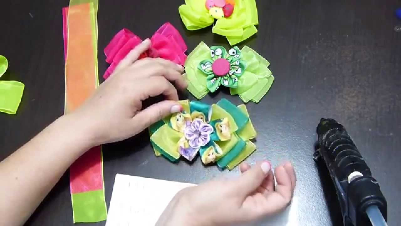 Como hacer mo os con cinta organza with organza ribbon - Como hacer monos ...