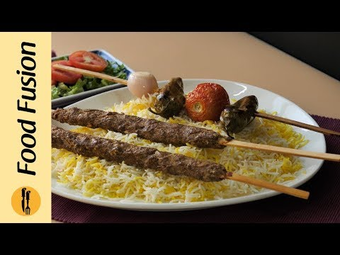 Persian Kabab with Rice Recipe By Food Fusion