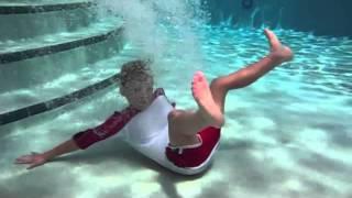 Evan's pool jumping underwater